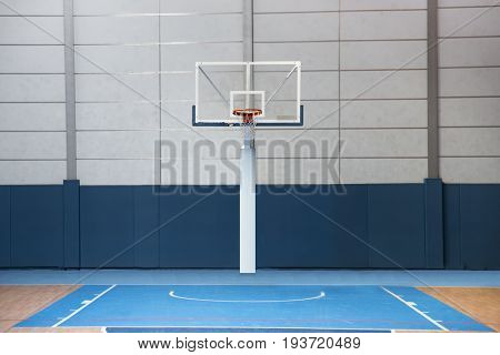 Basketball court in a school