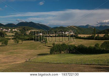 View of Umbria countryside near Monteleone di Spoleto