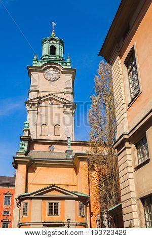 Stockholm, Sweden. Storkyrkan, Close-up