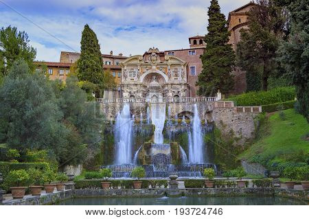 Villa d'Este Tivoli most popular traveling destination in lazio south italy
