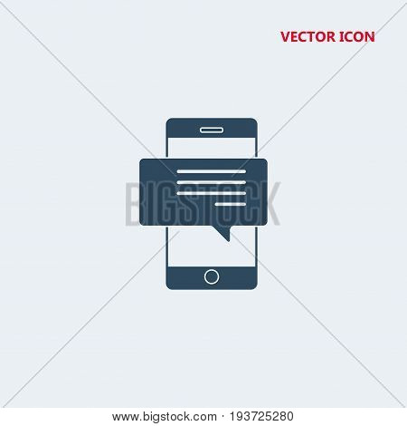 mobile phone with bubble speech Icon, mobile phone with bubble speech Icon Eps10, mobile phone with bubble speech Icon Vector, mobile phone with bubble speech Icon Eps