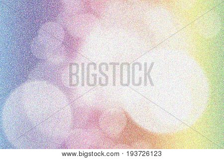 Pointillized colorful bokeh abstract background used for graphic design