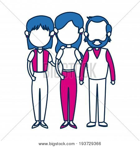 people family member together character image vector illustration