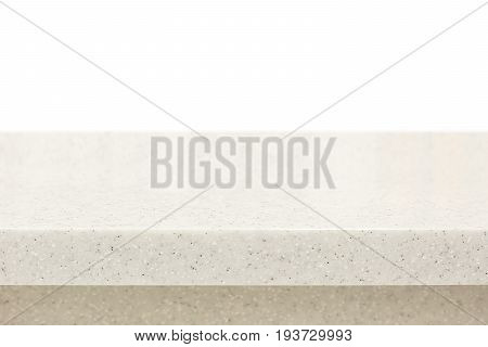 Quartz stone countertop on white background - can be used for display or montage your products