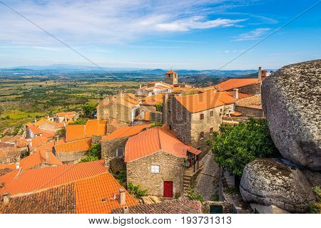 Over the roofs of Monsanto village in Portugal