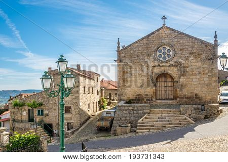 Church Matriz of Sao Salvador in the streets of Monsanto in Portugal