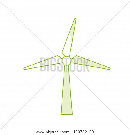 silhouette windpower technology to environment protection vector illustration
