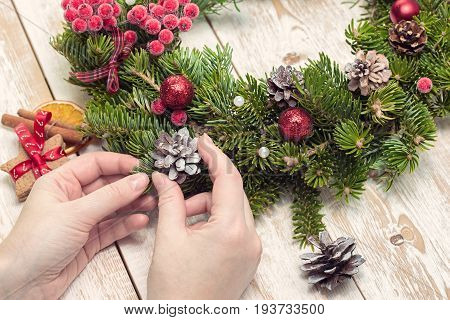 Christmas crafts. Christmas decorations. New Year Celebration