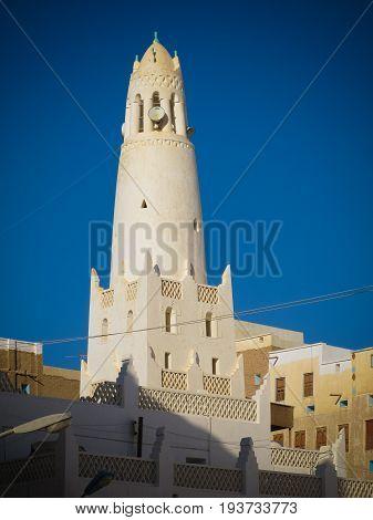 Exterior view of Maruf Ba Jamal Mosque at Shibam Hadhramaut Yemen