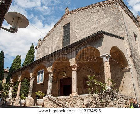 Sirmione - Church Santa Maria Maggiore is the parish church of Sirmione is located inside the Medieval centre. Italy