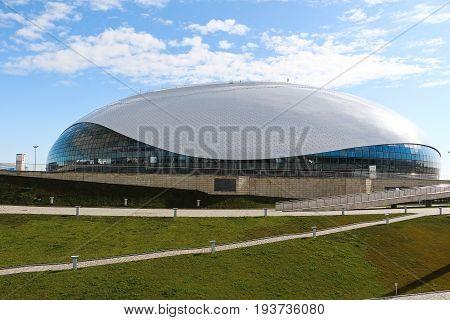 Sochi, Russia - July 10, 2015: The hockey stadium