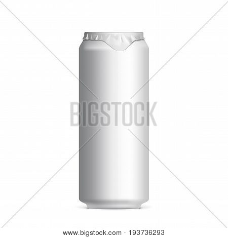 light aluminum cans for beer and soft drinks or energy. Packaging 500 ml. Vector illustration