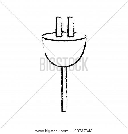 figure electric power cable to voltage connection vector illustration