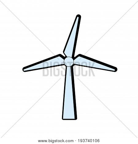 windpower technology to environment protection vector illustration