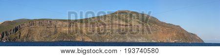 Panoramic shot of Vulcano Island - Messina - Sicily - Italy