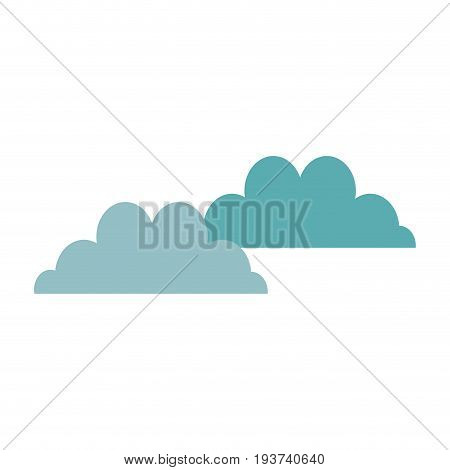 cloudscape sky clouds fluffy cumulus atmosphere heaven vector illustration
