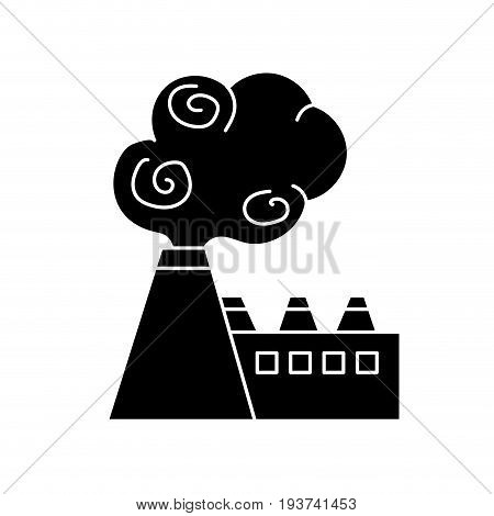 contour industrial factory pollution with toxic pollution vector illustration