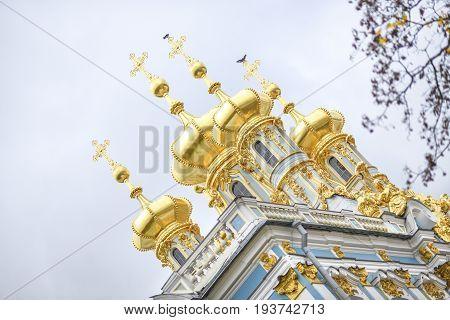 The Catherine Palace in Tsarskoye Selo St. Petersburg