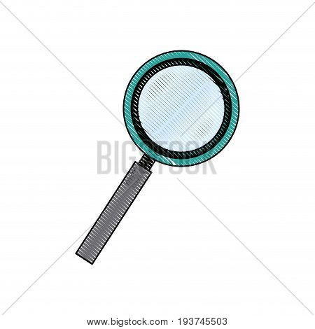 magnifier search loupe tool zoom find vector illustration