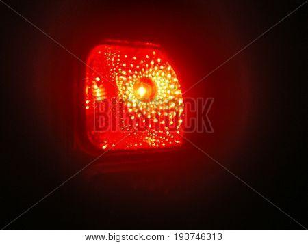 Red car brake light