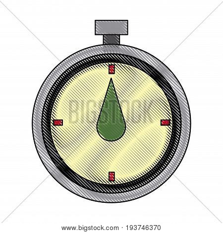 chronometer stop watch time clock vector illustration