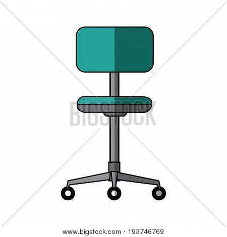 office chair comfort seat wheel furniture vector illustration