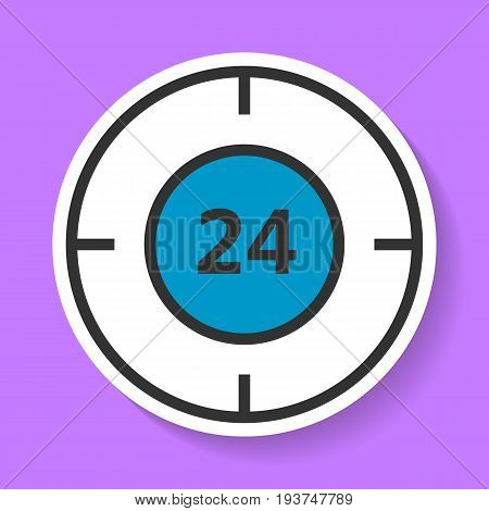 Round-the-clock service icon. This is a clock icon for sites and for electronic applications. This icon is easy to edit in a graphical editor.