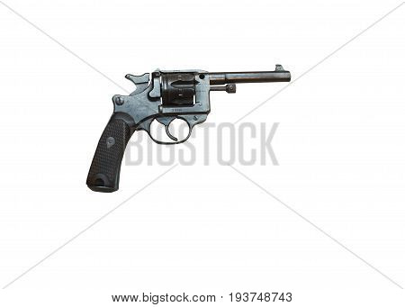Wroclaw, Poland - July 4, 2017: Close Up On Mas Mlo 1893  Handgun Isolated On White
