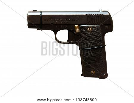 Wroclaw, Poland - July 4, 2017: Close Up On Ruby  Handgun Isolated On White