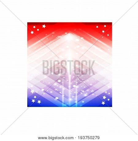 Abstract Holland, Luxembourg Flag, Russian National Colors. Vector Art
