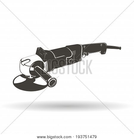 Grinder isolated on white background, monochrome style, vector