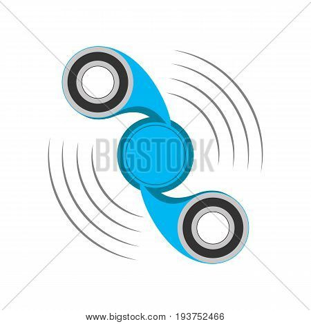 Hand spinner icon isolated on white background. Hand spinner toy. Vector illustration. Spinner stress relieving toy.