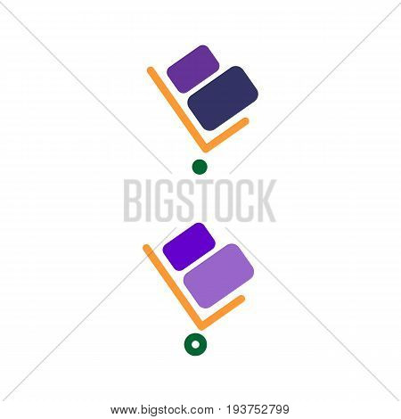 Handcart vector icon. Handcart isolated on white background. Delivery line vector icon for websites and mobile minimalistic flat design.
