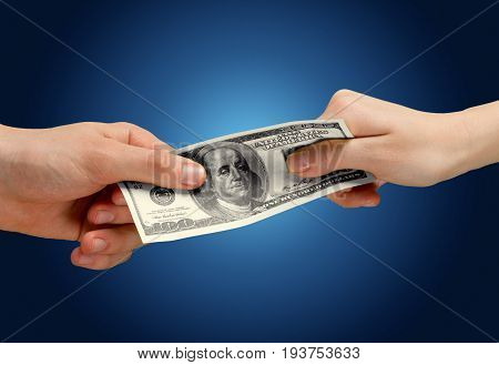 One hands two dollars hundred dollar white