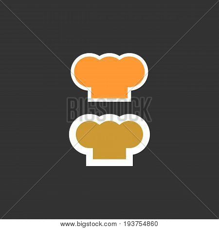 Chef hat silhouette isolated set. hat chef cook for logo. Flat color style