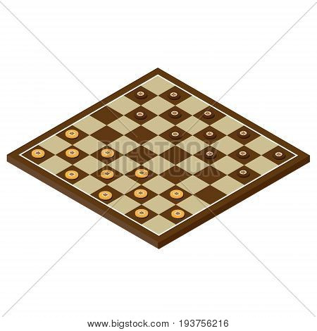 Isometric Checkerboard Vector