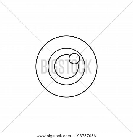 Bulls eye icon vector, target solid logo illustration, pictogram isolated on white