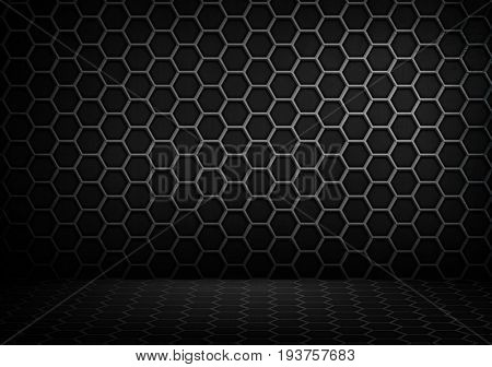 abstract interior with honeycomb design