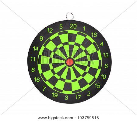 new darts board isolated on white background for business target concept