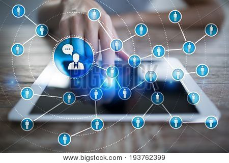 People icon network. SMM. Social media marketing