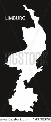 Limburg Netherlands Map Black Inverted Silhouette Illustration