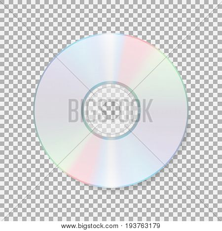 Realistic cd icon. Compact disc isolated on transparent background. CD Vector illustration. Eps 10