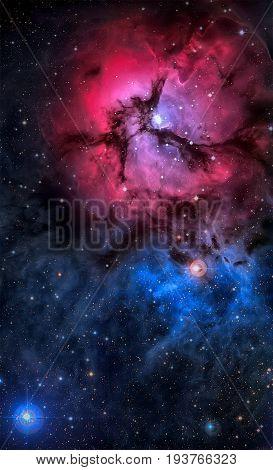 The Trifid Nebula In The Constellation Sagittarius.