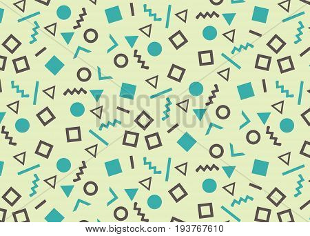 Simple pattern in the style of the eighties.Vector illustration.