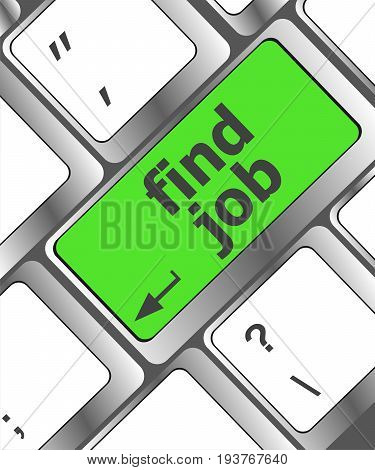 Searching For Job On The Internet. Jobs Button On Computer Keyboard
