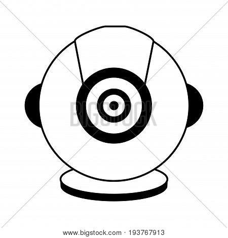 isolated webcam icon image  vector illustration design black line