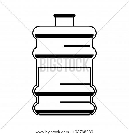 office water cooler bottle icon image vector illustration design  black line
