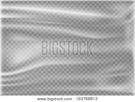 Transparent Polyethylene Plastic Warp. Vector illustration. Eps 10.