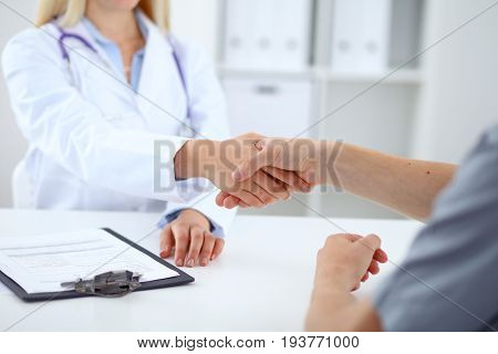 Partnership, trust and medical ethics concept. Medicine and health care