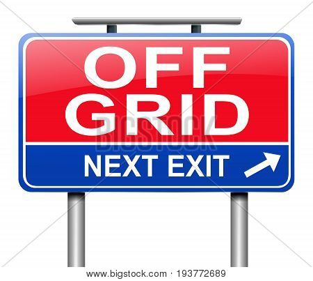 3d Illustration depicting a sign with an